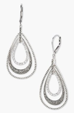 Judith Jack  - Orbital Triple Teardrop Hoop Earrings