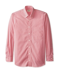 Gitman Bros. - Mini Gingham Check Button Down Sportshirt