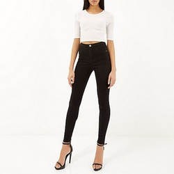 River Island - Black High Waisted Molly Jeggings