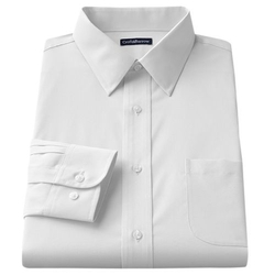 Croft & Barrow - Solid Broadcloth Point-Collar Dress Shirt