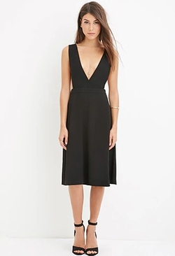 Forever 21 - Contemporary Deep V-Neck Dress