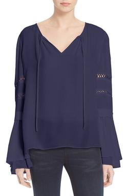 Parker  - Hadley Silk Bell Sleeve Blouse