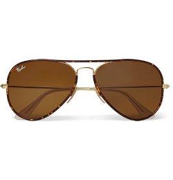 Ray-Ban   - Tortoiseshell Acetate And Metal Aviator Sunglasses