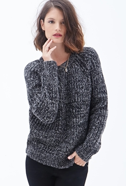 Forever21 - Contemporary Textured Crew Neck Sweater