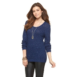 Shiny - Textured Stitched Sweater
