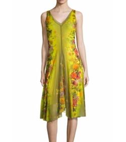 Fuzzi - Farfalla Floral Printed A-Line Dress