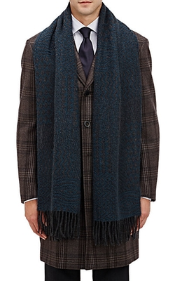 Barneys New York - Multi-Pattern Knit Scarf