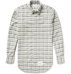 Thom Browne - Slim-Fit Checked Cotton Oxford Shirt