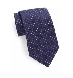 Saks Fifth Avenue  - Silk Neat-Pattern Tie