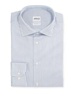 Armani Collezioni - Textured Stripe Dress Shirt
