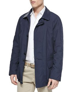 Loro Piana   - Windstorm Jacket with Cape Back
