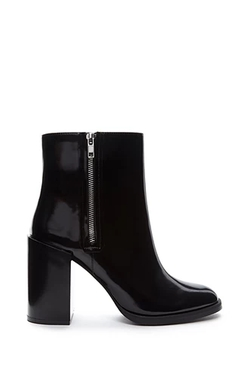 Forever 21 - Extended Heel Faux Leather Booties