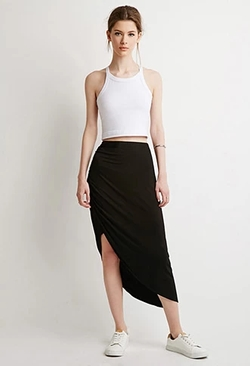 Forever 21 - Contemporary Ruched Asymmetrical Skirt