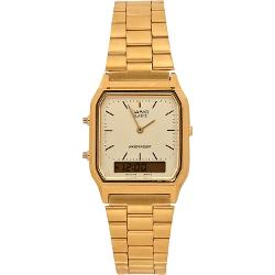 Casio - Gold Tone Casio Square Watch