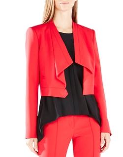 BCBGMaxazria - Franco Draped-Collar Jacket