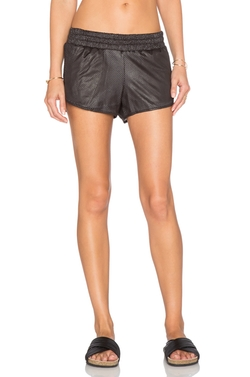 Monrow - Perforated Leather Short