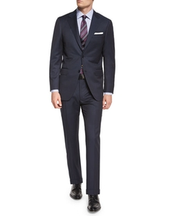 Canali  - Sienna Contemporary Fit Tonal-Stripe Two-Piece Wool Suit