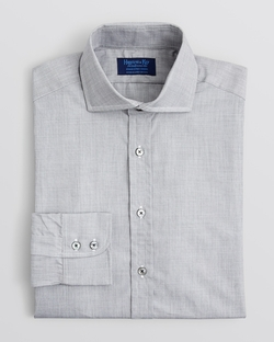 Hilditch & Key - Solid End-On-End Dress Shirt