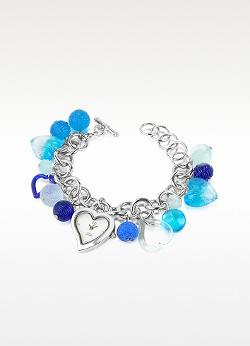 Antica Murrina Stardust - Murano Glass Heart Charm Bracelet Watch