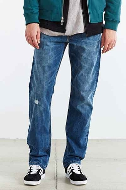 Urban Outfitters - Damaged Stone Wash Jeans