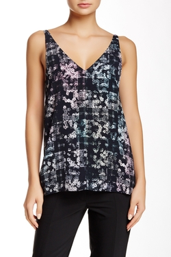 Tibi - Floral Fields V-Neck Tank Top
