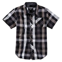 Zoo York - Short-Sleeve Button-Front Plaid Shirt