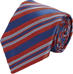 Kiton - Micro-Checked & Diagonal-Striped Necktie