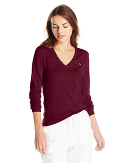 Lacoste - Long-Sleeve V-Neck Sweater