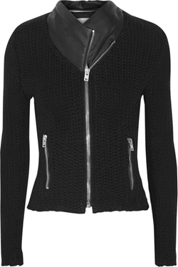 IRO - Kiley Leather-Trimmed Biker Jacket