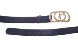 Giorgio Armani - Logo Buckle Leather Belt