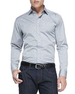 Etro  - Animal-Print Jacquard Shirt