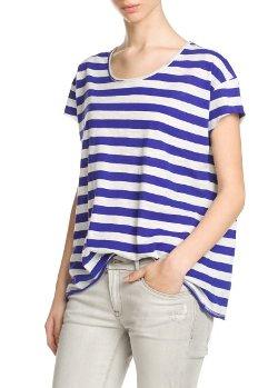 Mango - Striped Slub-Cotton T-Shirt