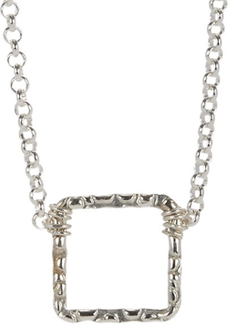 Sonya Renee Jewelry - Sterling Silver Square Pendant Necklace