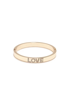 Forever 21 - Rhinestoned Love Bangle Bracelet