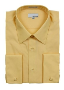 Modena  - Mens Solid French Cuff Dress Shirt