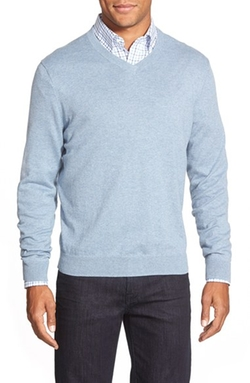 Nordstrom - Cotton & Cashmere V-Neck Sweater