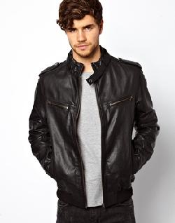 ASOS - Leather Bomber Jacket