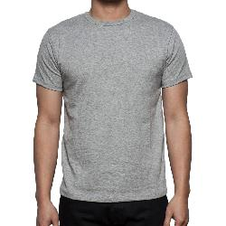 3sixteen - HEAVYWEIGHT PLAIN TEE - HEATHER GREY