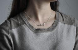 Handmade Sterling Silver Necklace Tree Buds -WishBop.com - WishBop