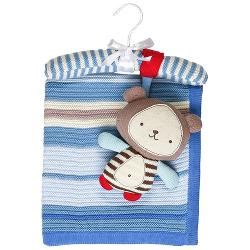Living Textiles Baby - Cotton Knitted Blanket & Toy