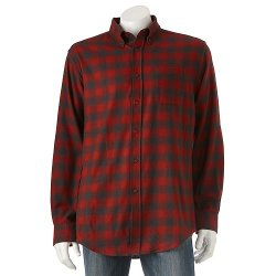 Croft & Barrow - Plaid Flannel Button-Down Shirt - Men