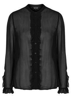 Topshop - Ruffle Front Shirt