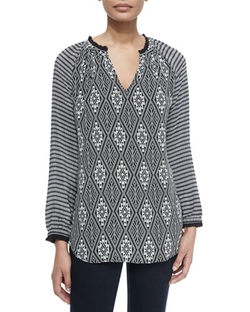 Tolani - Lynn Printed Silk Tunic Top