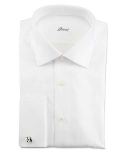 Brioni - Ribbed French-Cuff Dress Shirt