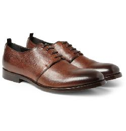 ALEXANDER MCQUEEN  - BURNISHED-LEATHER DARBY SHOES