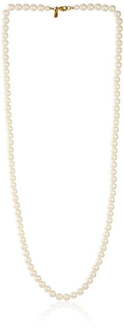 "1928 Jewelry - ""Essentials"" Gold-Tone Simulated Pearl Strand Necklace"