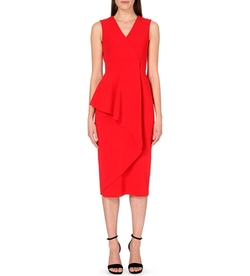 Alexander Mcqueen - Draped-Panel Stretch-Crepe Dress