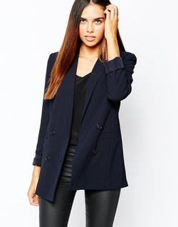 Warehouse - Double Breasted Textured Blazer