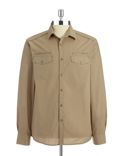Kenneth Cole New York - Solid Military Sport Shirt
