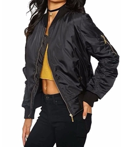 Luouse - Women Vintage Bomber Jacket